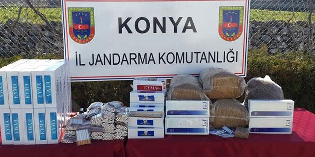 Seydişehir'de 4 bin 800 paket kaçak sigara ele geçirildi