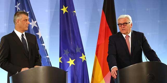 Steinmeier, Kosova Dışişleri Bakanı Thaçi ile görüştü