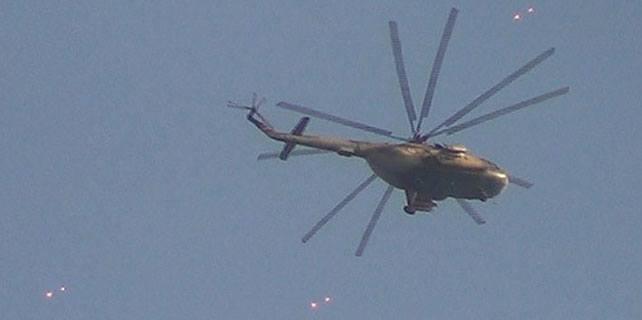 Suriye ordusuna ait helikopter düştü