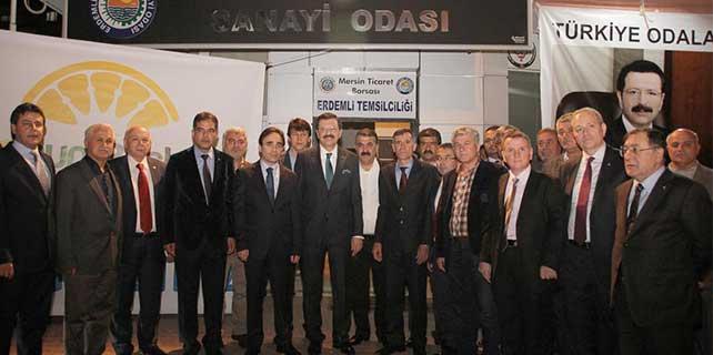 TOBB Başkanı Hisarcıklıoğlu Mersin'de