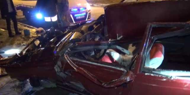 Yozgat'ta otomobil devrildi: 5 yaralı