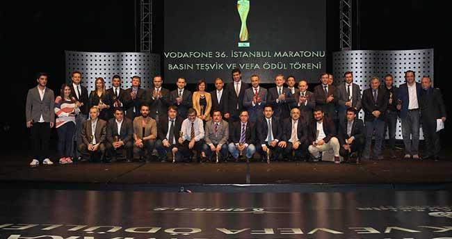 36. Vodafone İstanbul Maratonu Basın Teşvik ve Vefa Ödülleri