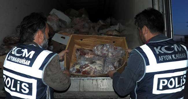 Afyonkarahisar'da gümrük kaçağı et operasyonu