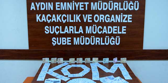 Aydın'da sahte para operasyonu