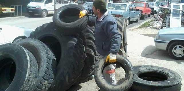 Beyşehir'de araç lastikleri geri dönüşüme kazandırılıyor