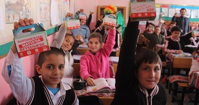 Beyşehir'de kitap fuarının okullarda tanıtımı gerçekleştirildi
