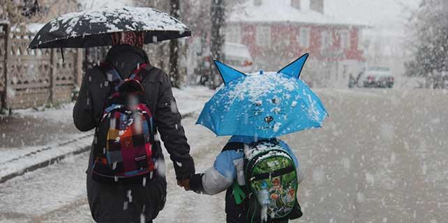 Beyşehir'de nisan ayında kar yağışı