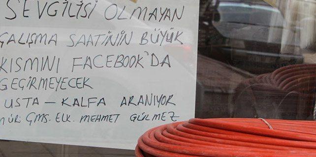 Erzurumlu esnaftan ilginç kalfa ilanı