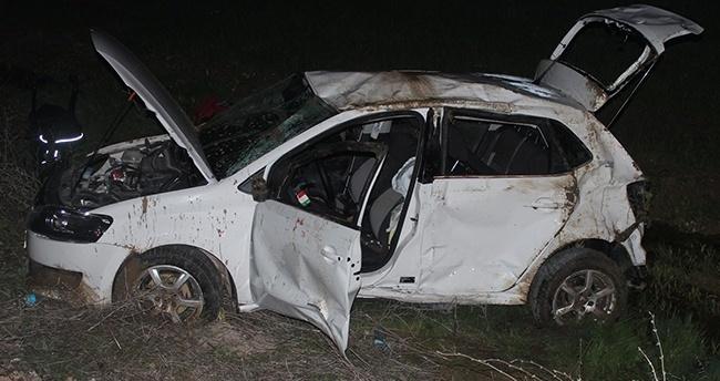 Konya'da otomobil devrildi: 1 yaralı