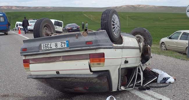 Konya'da otomobiller çarpıştı: 1 ölü, 4 yaralı