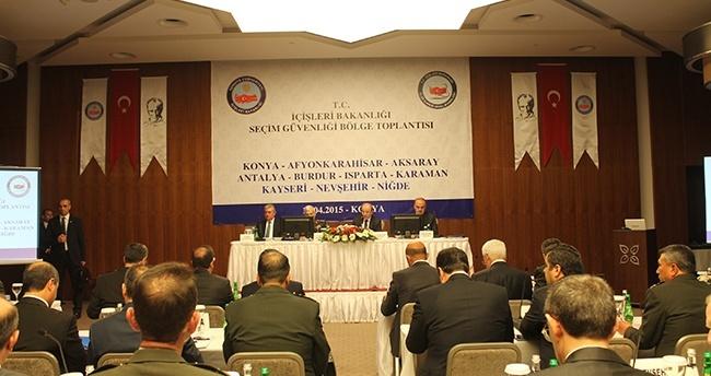 Konya'da seçim güvenliği bölge toplantısı yapıldı