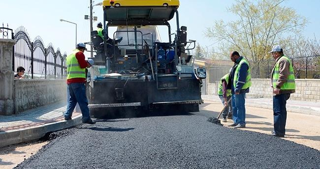 Meram'da sokaklar asfaltlanıyor