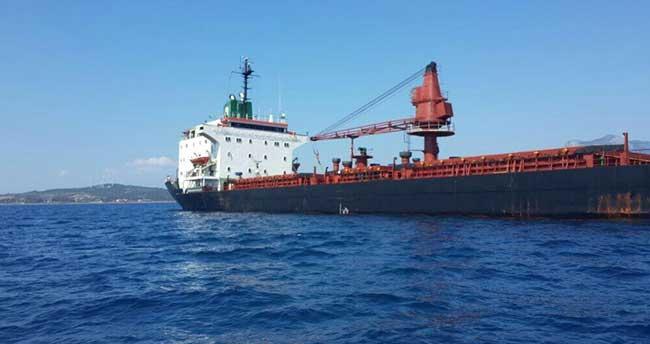 Muğla'da kuru yük gemisi batma tehlikesi atlattı