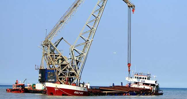 Samsun'da kuru yük gemisinin karaya oturması