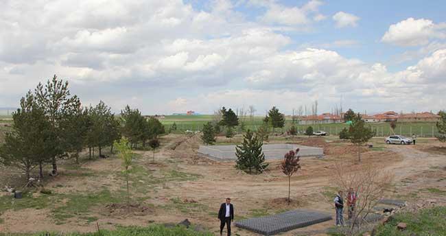 Sarıkaya'da mesire alanı çalışmaları devam ediyor