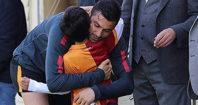 Şehit savcı Kiraz'ın oğlu Galatasaray antrenmanında