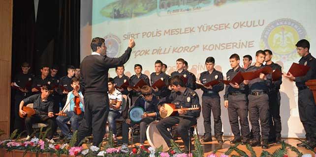 Siirt'te polisler Türkçe, Kürtçe ve Arapça konser verecek