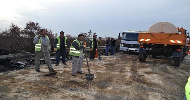 Silivri'de zincirleme trafik kazası: 2 ölü