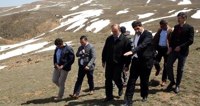 Vali Erol Aladağ'da incelemelerde bulundu
