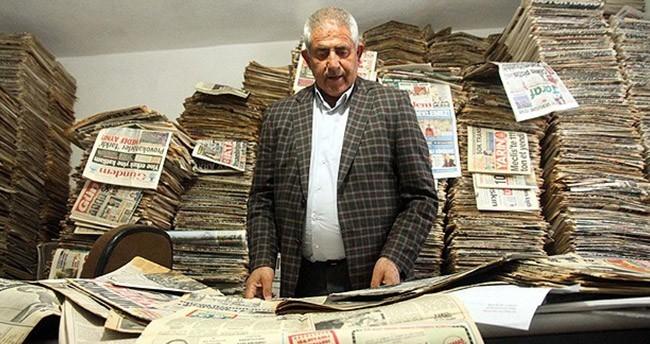 Yarım asırdır gazete arşivliyor