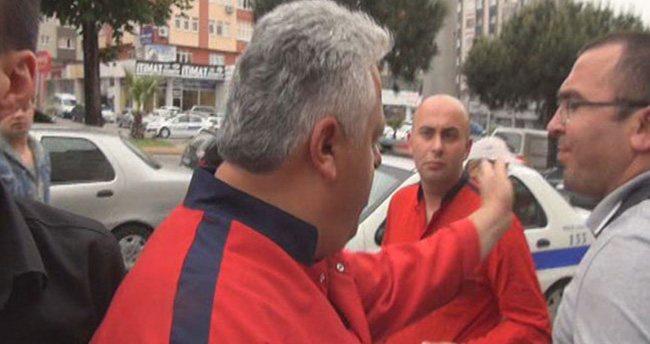 700 liralık motosikletle 2 bin lira ceza yedi, gazetecilere saldırdı