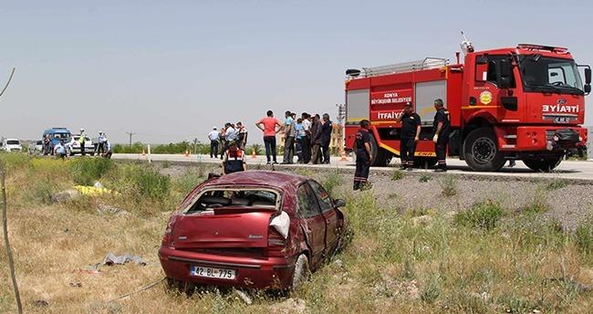 Cihanbeyli'de Trafik Kazası : 1 ölü, 2 yaralı