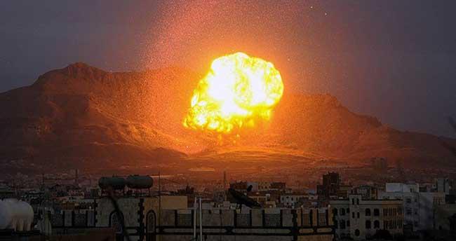 Husilere ait silah depoları bombalandı