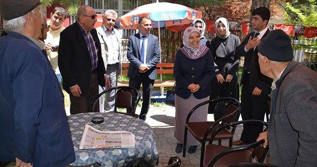 Hüsniye Erdoğan Baba ocağında seçim çalışması yaptı