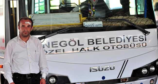 İnegöl'de midibüs şoförünün yolcu tarafından darbedilmesi
