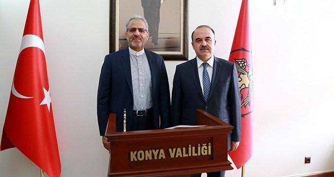 İran'ın Ankara Büyükelçisi Bigdeli, Konya'da