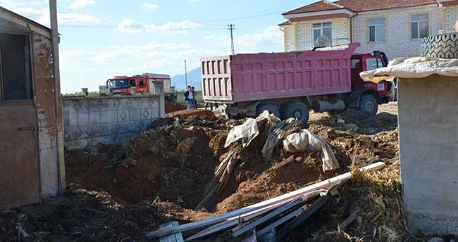 Karaman'da OSB'ye giden doğal gaz ana borusu patladı