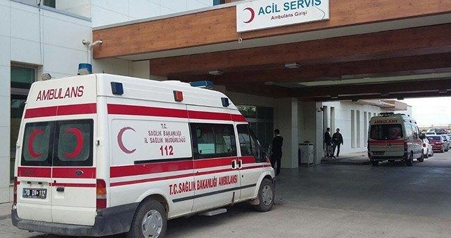 Karaman'da trafik kazası: 21 yaralı