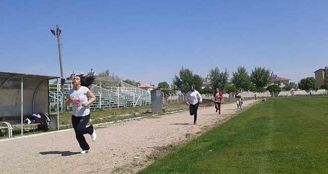 Karapınar'da gençlik koşusu yapıldı