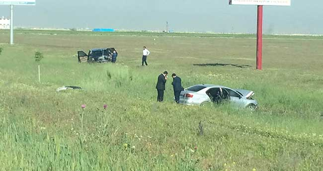 Konya'da milletvekili adayı kaza yaptı