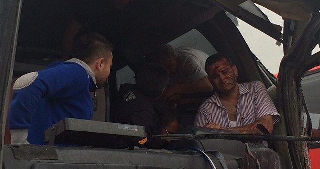 Konya'da trafik kazası 1'i ağır 3 yaralı