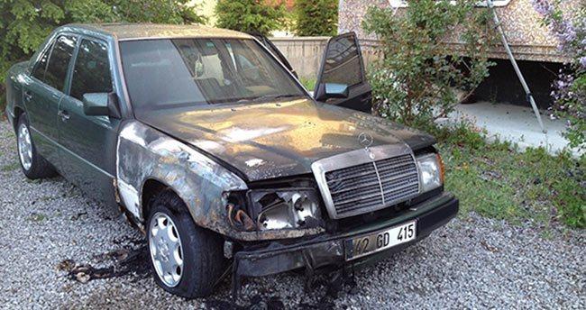Kulu'da otomobil kundaklama iddiası