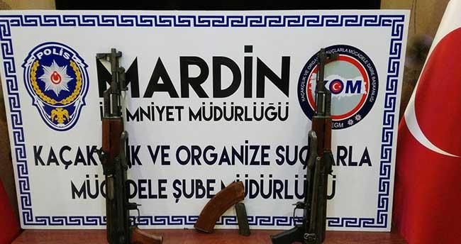 Mardin'de uzun namlulu 2 silah ele geçirildi