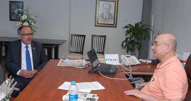 Mustafa Kalaycı'dan gazetemize ziyaret