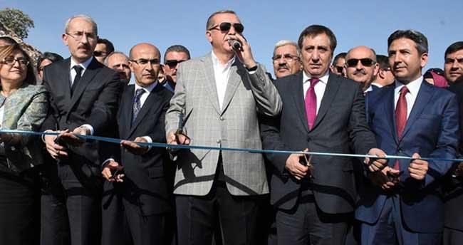 Nisibi Köprüsü Cumhurbaşkanı'nın katılımıyla hizmete açıldı