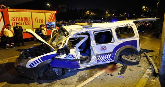 Polis aracı kaza yaptı: 1 şehit, 2 yaralı