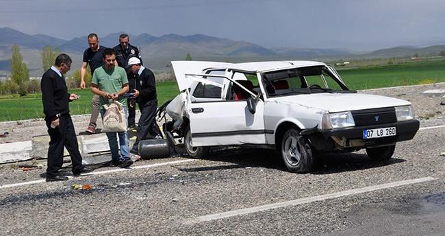 Seydişehir'de trafik kazası : 2 yaralı