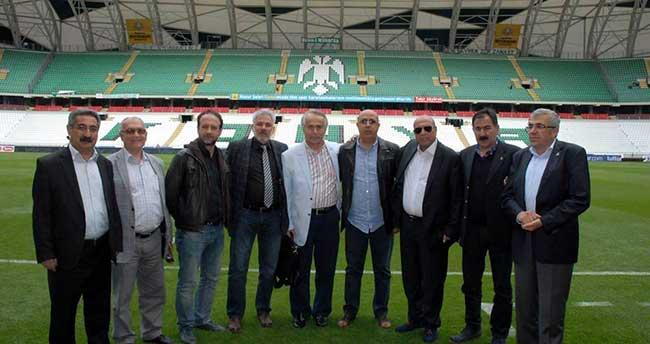 TSYD Genel Başkanı Arkan Konya'da spor yazarlarıyla buluştu