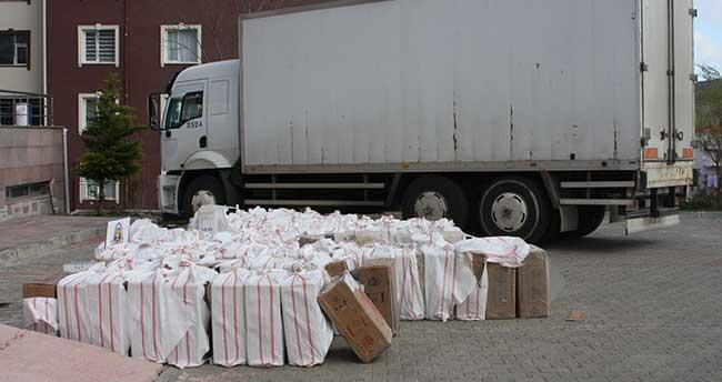 Yozgat'ta sigara kaçakçılığı operasyonu