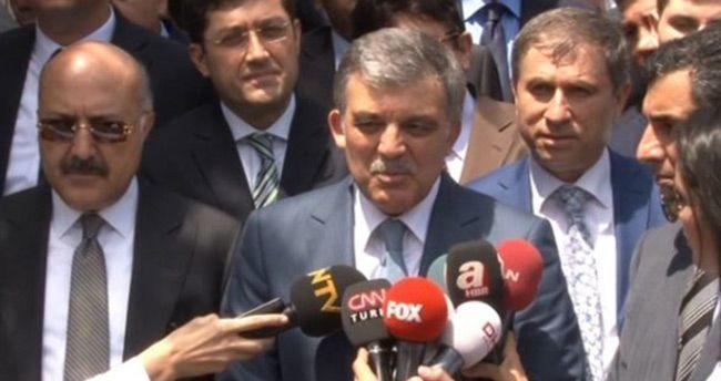 Abdullah Gül, Başbakan'la yaptığı görüşmeyi anlattı