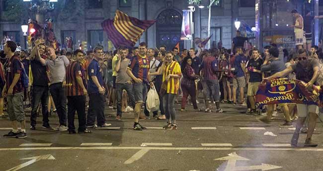 Barcelona'nın kupa kutlamalarında 7 gözaltı