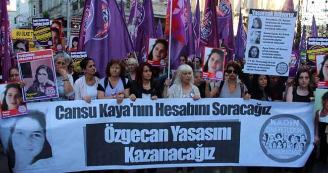 Cansu Kaya için Taksim'de protesto yürüyüşü