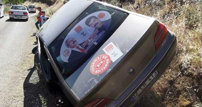 CHP milletvekili adayı kaza yaptı