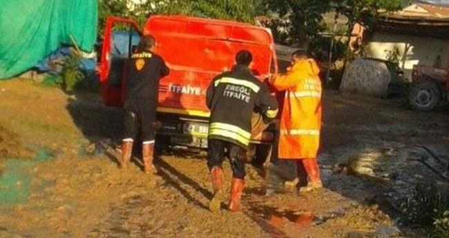 Ereğli'de Su Baskınları Tahliye Edildi