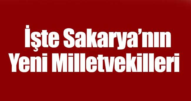 İşte Sakarya'nın Yeni Milletvekilleri