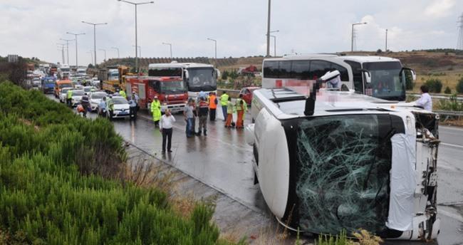 İzmir-Aydın otobanında kaza: 46 yaralı